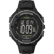 Timex Men's Expedition Shock XL Vibrating Alarm Watch, Black Resin Strap