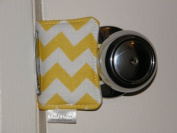 Cushy Closer 100-113 Door Cushion in Yellow and White Chevron