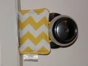 Cushy Closer 100-113 Door Cushion in Yellow and White Chevron