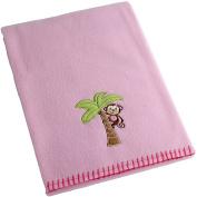 Garanimals Girls' Embroidered Fleece Blanket