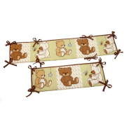Little Bedding by NoJo Dreamland Teddy Portable Crib Bumper