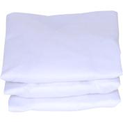 J. Lamb - Set of 3 Bassinet Sheets, White