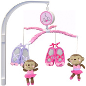 Child of Mine by Carter's Ballerina Monkey Musical Crib Mobile