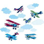 WallPops Mighty Vintage Planes Decals