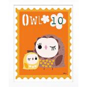 Timeless Frames Owl Animal Stamp Framed Art, 10x8