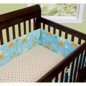 Step By Step Elephant Crib Bumper, Green