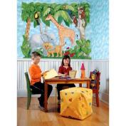 Baby Jungle Animals Mural
