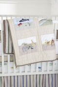 Whistle and Wink Adventure Patches Crib Quilt