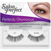 Salon Perfect Perfectly Glamorous Eyelashes, 117 Black, 1 pr
