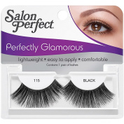 Salon Perfect Perfectly Glamorous Eyelashes, 115 Black, 1 pr