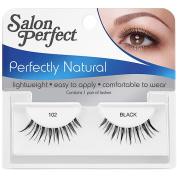 Salon Perfect Perfectly Natural Eyelashes, 102 Black, 1 pr