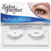 Salon Perfect Perfectly Natural Eyelashes, 70 Black, 1 pr