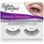 Salon Perfect Perfectly Glamorous Strip Lashes, 105 Black, 1 pr