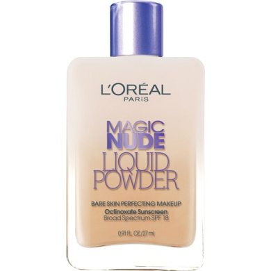L'Oreal Paris Magic Nude Liquid Powder Bare Skin Perfecting Makeup, 320 Natural Beige, 25ml