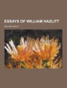 Essays of William Hazlitt