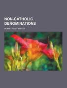 Non-Catholic Denominations