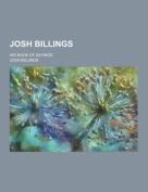 Josh Billings; His Book of Sayings