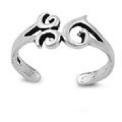 925 Sterling Silver Toe Ring - Om Sign
