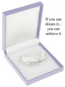 Equilibrium Silver Plated Bangle - If You Can Dream It You Can Achieve It