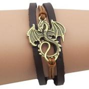Dragon Daenerys Targaryen - Game Of Thrones - Genuine Leather Bracelet