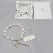 Communion Bracelet with Diamonte Cross