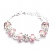 Crystal Charm Bracelet Girls Pandora Style