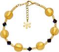 Valentina Genuine Murano Glass Black and Gold Bracelet of 21.5cm