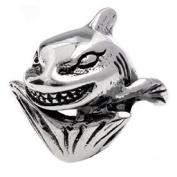 Authentic Silverado Smiley Shark Charm Bead Compatible with Pandora Chamilia Troll Biagia etc