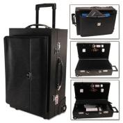 Wheeled Sample/Catalog Case, 14 1/4 x 23 1/2 x 11 1/4, With Locks, Koskin, Black