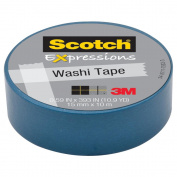 3M C314-BLU Washi Tape . 59 inch x 393 inch - 15mmx10m -Blue