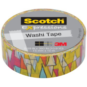 """Expressions Washi Tape, .59"""" x 393"""", Colorful Triangles"""