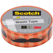 """Expressions Washi Tape, .59"""" x 393"""", Moustache"""