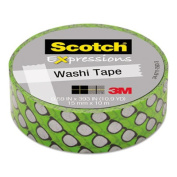 """Expressions Washi Tape, .59"""" x 393"""", Silver Glasses"""