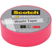 """Expressions Washi Tape, .59"""" x 393"""", Neon Pink"""