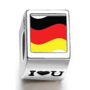 Soufeel Germany Flag Photo I Love U European Charms Fit Pandora Bracelets