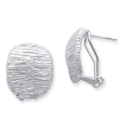 Sterling Silver Omega Back Earrings - JewelryWeb