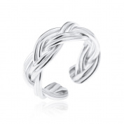 Sterling Silver Knot Ear Cuff Rope Effect Non Pierced Earring