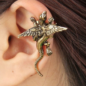 Yazilind Jewellery. Special Cool Design Gold Plated Lizard Shape With Wing Alloy Ear Cuff Earrings for Women & Girls Gift Idea