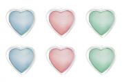 Silver Set of 3 Heart Mother-of-Pearl Stud Earrings