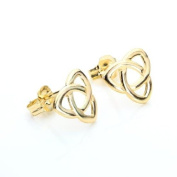 9ct Yellow Gold Triangular Celtic Knot Stud Earrings / Studs