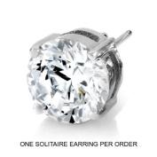 Men's Solitaire Stud Earring - 2 CT