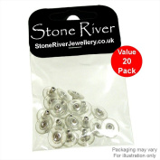 Stone River Jewellery Pack of 20 Earring Backs Hypo Allergenic Rhodium Plated