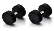 Jewellery Sleuth Pair of Top Quality Fake Black Ear Stretcher Plugs Cheater Earrings - 6mm