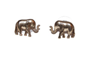 Antique Gold Dainty Elephant Stud Earrings (Supplied in a Gift Pouch) Unique Jewellery