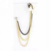 T & J Jewellery Triple Cartilage Chain Pearl Ear Cuff Earrings