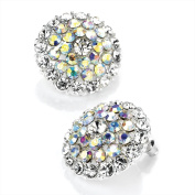 Large AB Clear Crystal Cluster Stud Earrings