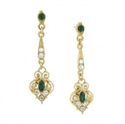 The Downton Abbey Collection Gold Tone Elegant Crystal Drop Earrings 17503