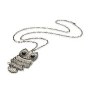Stone River Jewellery Vintage Style Silver Owl Necklace Pendant