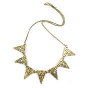 Gothic Bronze Alloy Geometric Triangle Necklace