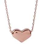 Stunning 18k Rose Gold Plated Womens 38cm Necklace With 1cm Heart Pendant. Available In 3 Colours